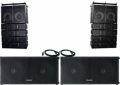 2 Citronic MLA-1460 line array 2 dB Technologies DVA S 20 DP