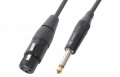Cable XLR female 6.3 mono 6m Black