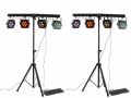 2 x BEAMZ PARBAR 4-Way Kit 28x10W Quad LEDs DMX