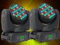 2 x BeamZ MHL-363 moving head RGBW 16ch