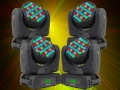 4 x BeamZ MHL-363 moving head RGBW 16ch
