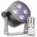 BeamZ Aluminum LED Spot 4x 18W 6-in-1 Designed for installation.
