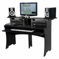 Studio/DJ-möbel, extra robust i massiv MDF, 43 kg, 1560 x 985 x 580 mm.