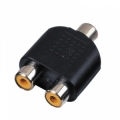 223120 adapter 1 RCA-hona till 2 RCA-honor