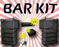 Barkit med 2st line array totalt 2400W